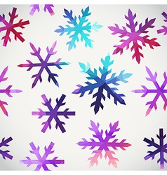 Snowflakes pattern abstract snowflake of geometric vector