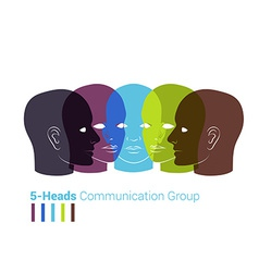 Human heads silhouettes Group of people talking vector image