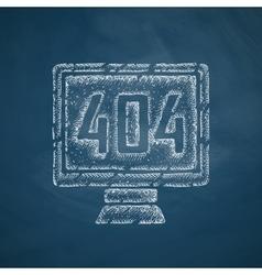 404 error program error icon vector