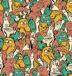 Monsters seamless background vector