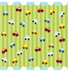 Cute seamless pattern with little cars vector