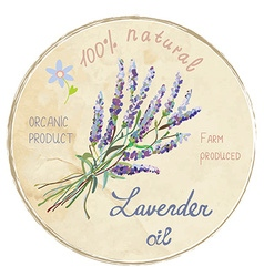 Lavender oil design label vector