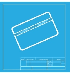 Credit card symbol for download white section of vector