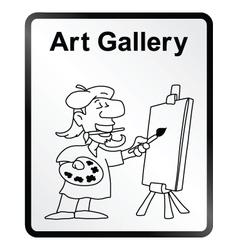 Art gallery information sign vector