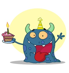 Birthday monster cartoon vector image vector image