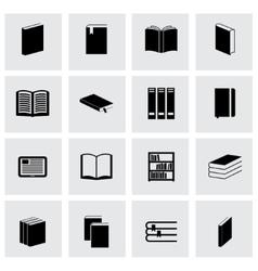 black book icon set vector image vector image