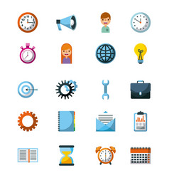 business icon concept management work progress vector image