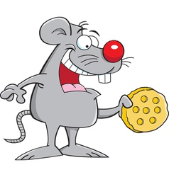 Cartoon Mouse with Cheese vector image