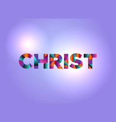 christ concept colorful word art vector image vector image