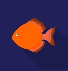 discus fish icon flat singe aquarium fish icon vector image vector image
