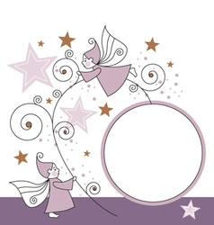Elves and stars vector