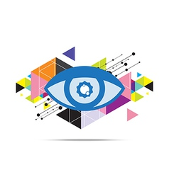 Eye abstract background design vector