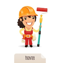 female painter vector image vector image