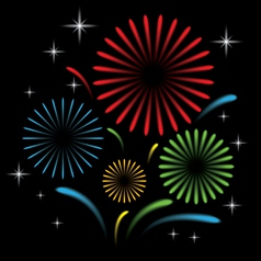 Fireworks with star vector image vector image