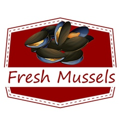 Fresh mussels vector image vector image