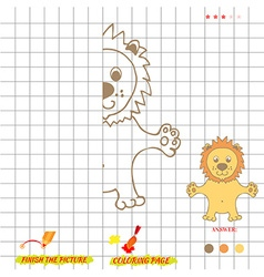 Game finish the picture and coloring vector image