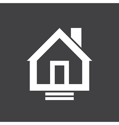 House Icon On Dark vector image vector image