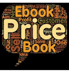 How to Price Your eBook text background wordcloud vector image