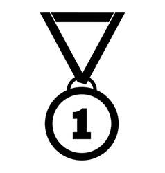 Medal for first place icon simple style vector