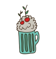 Milkshake drink icon vector