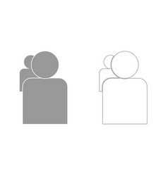 People or two avatar grey set icon vector