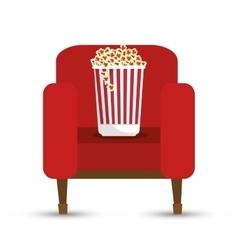 pop corn bucket white background vector image