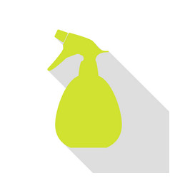 Spray bottle for cleaning sign pear icon with vector