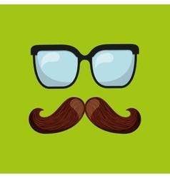 Symbol fathers day tie glasses icon design vector