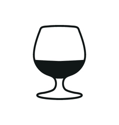 The glass with brandy icon vector