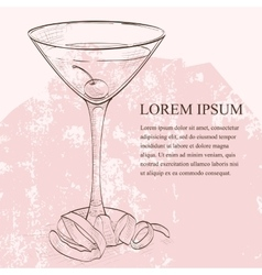 Tuxedo alcoholic cocktail scetch vector