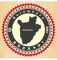 Vintage label-sticker cards of burundi vector