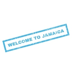 Welcome to jamaica rubber stamp vector