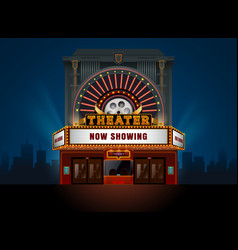 Theater cinema building vector