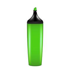 Highlighter pen in green design vector