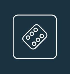 vitamin outline symbol premium quality isolated vector image