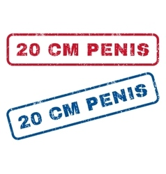 20 cm penis rubber stamps vector