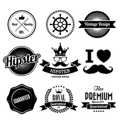 Hipster style badge and labels vector