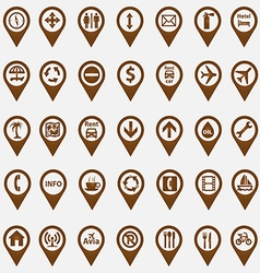 Set of navigation icons vector