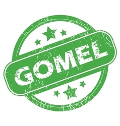 Gomel green stamp vector