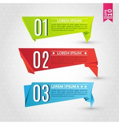 Set of colorful origami labels vector