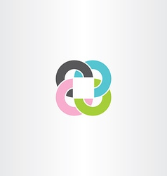 Abstract business circles and square colorful logo vector
