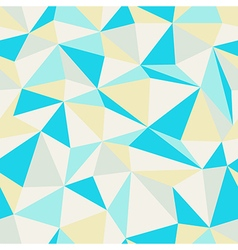 Triangle pattern blue and yellow vector