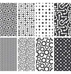 Set of seamless patterns backgrounds vector
