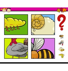 Educational game with animals vector