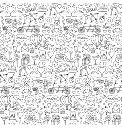 Hand drawn love seamless pattern vector