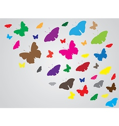 Simple abstract butterfly background vector image