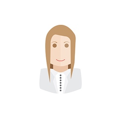 Object businesswoman avatar vector