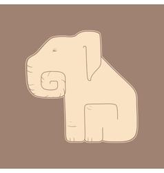 Flat elephant vector