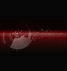 abstract tech design background vector image