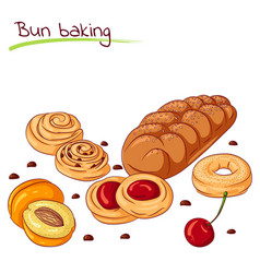 Bakery baking and cookies vector